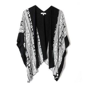 YA Los Angeles Kimono Cover Up Beach Swim Black M